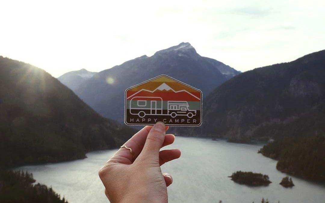Happy Camper – Vinyl Sticker
